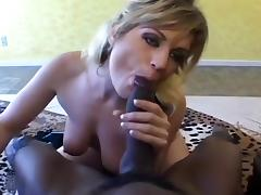Tyla Wynn Sucks And Jerks A Black Cock