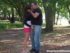 Sexy teen Gabriella gets fucked by old Philippe