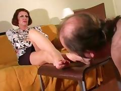Mature Mistress Foot Worship