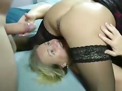 My buxom girlfriend licks