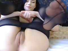 Ass, Ass, Boobs, Brunette, Cameltoe, Masturbation