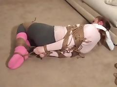Tied in pink socks