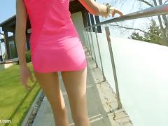 Melanie masturbating on Give Me Pink gonzo style