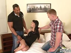 Interracial Anal Cuckold