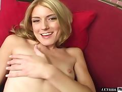 Small tits blonde riding big cock hardcore in pov porn