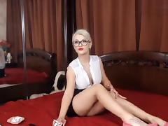 Undressing, Blonde, Boobs, Undressing, Webcam, Tits