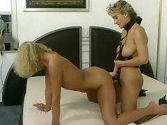 Blond Amateur Lesbians in Wild Leather