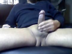 Bi guy playing with his hard cock