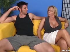 Milf sucking and tit fucking