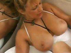 Lower income Cougar fucked in bathroom