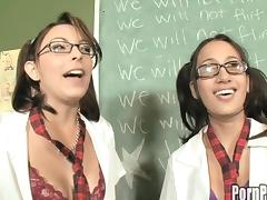 Pigtails student riding their teachers dick while displaying hot ass