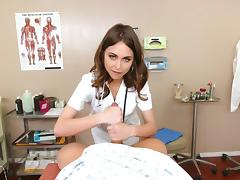 Hot nurse delights with patient's big cock in perfect POV