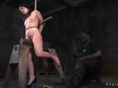 Loads of sex toys are guaranteed to make her scream in the BDSM play!