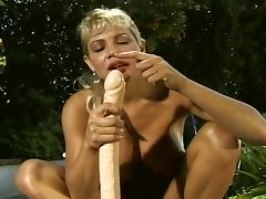 Stacked MILF Kennedy Uses Enormous Toy