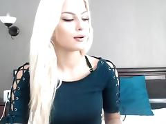 Webcam beautiful blonde blowjob dildo softcore