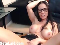 Check out the best tits ever on this webcam girl in glasses