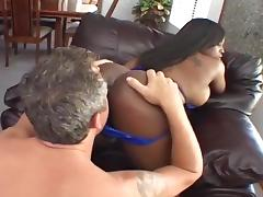 Busty Ebony Chick Get Her Ass Fucked