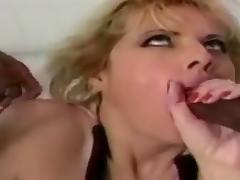 Massive Boobs Blonde IR Facial Threesome