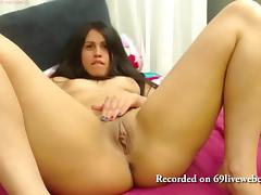 Babe licks her ties and feet in fetish live webcam chat