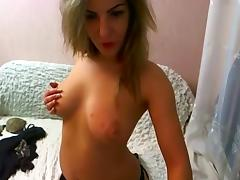 Model, Big Tits, Masturbation, Solo, Stockings, Strip