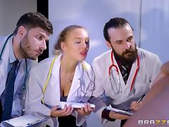 Handsome doctor examines Amirah Adara's dripping hole