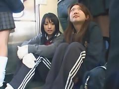 Japanese handjob Metro 05
