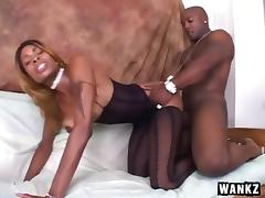 Ebony Modeling Shoot Turns Hardcore