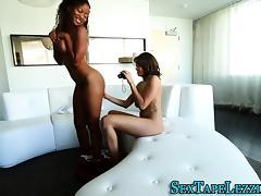 Real ebony lesbians lick
