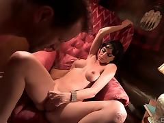 Naughty Franki chokes on her mature lover's fat dick