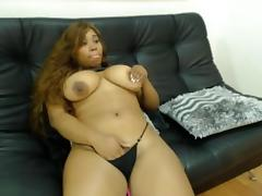 Thick and sexy ebony squirt