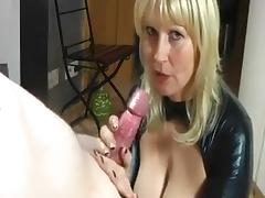 German Blonde Mommy Sucking