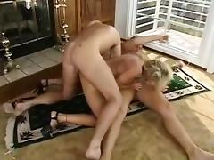 Mature blondie taken two whips