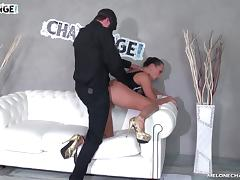Melonechallenge - Masked dude fuck ass Mea Melone very hard