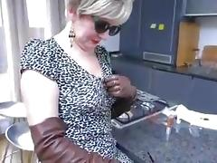 Hot smoking milf blowjob thigh boots