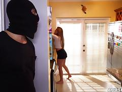 Hobo, Babe, Blowjob, Bound, Tied Up, Burglar