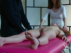Naomi and Kiki are going more and more wet from a hot massage