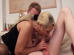 Busty Granny Anal Creampie