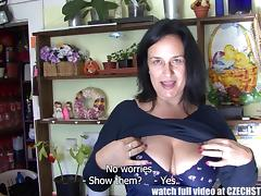 mature czech beauty sucks off my cock in the flower shop