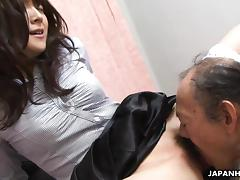 Wet, Asian, Hairy, Japanese, Old Man, Pussy