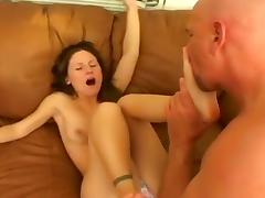 All, Big Tits, Blowjob, Brunette, Couple, Feet