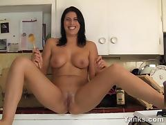Pierced Makayla Masturbate With A Wooden Spoon