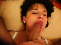 Mother with delicious breasts gets a large dick facial