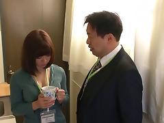 Yurina Aizawa likes feeling horny men's fingers on her body
