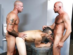 Sean Duran & Matt Stevens & Jason Barr in Glory Hole Birthday Surprise Video - MenOver46