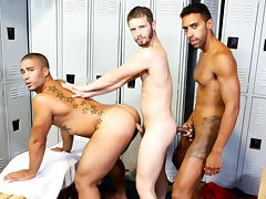 Trey Turner & Jay Alexander & Asher Devin in Competitive Big Dicks Video - ExtraBigDicks