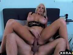 First boy girl scene of super stacked Nicolette Shea