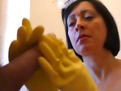 RUBBER HOUSEHOLD GLOVES HJ.MATURES
