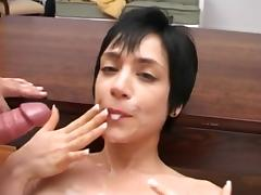 shorthaired beauty facial 30 milf double load