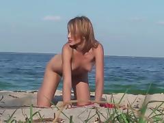 Beach, Beach, Blonde, Hairy, Softcore