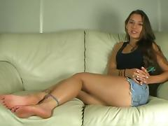 showcasing legs and feet
